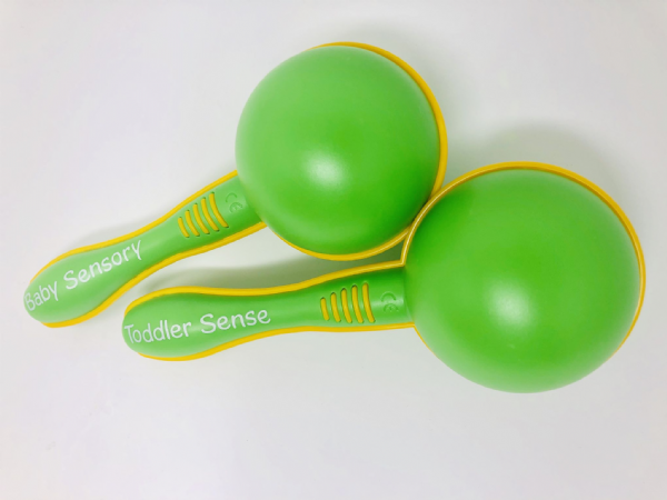 Baby Sensory/Toddler Sense Dual Branded Maracas - Green (Pair)